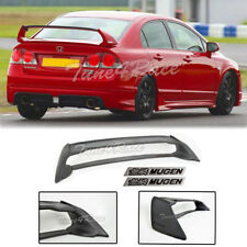 For 06-11 Civic Sedan Mugen RR Rear Spoiler FD2 FA2 W/ Black Emblems ABS Plastic