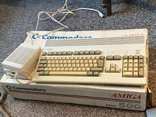 commodore amiga 1200 computer , working with installed software and accessories
