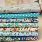 BLUE Series 7 Assorted Pre Cut Cotton Quilt Floral Fabric Fat Quarter Set 19.7""