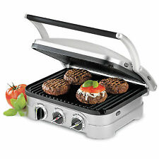Cuisinart 5 in 1 Multi Function Griddler Grill Brushed Stainless GR-4NA