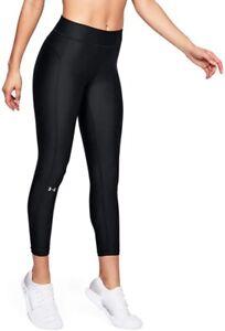 Under Armour HeatGear (Women's Size M) Ankle Crop Athletic Leggings Black