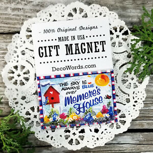 Memere Gift MAGNET * Packaged * Family Grandparent Cute * USA New DecoWords