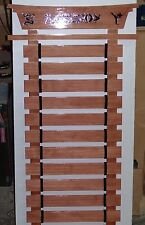 Personalized 10 Slat Karate Arts Belt Rack Display New Handmade