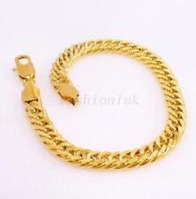 "Men Women Unisex New 21cm 8.2 "" 18K Yellow Gold Plated Birthday Xmas Bracelet"