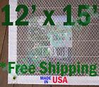 12' x 15' Clear Poly Tarp Room Divider Patio Porch Enclosure Fumigation Curtain