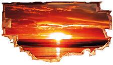 trompe l'oeil  -tramonto- -adesivo per muro-- wall stickers arredo per  locali