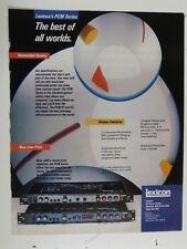 vintage magazine advert 1983 LEXICON pcm