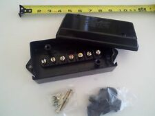 Trailer Wiring Electrical Junction Box 7-pole Terminal Weatherproof Black Poly