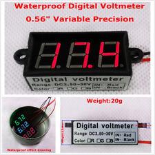 """Micro 0.56"""" Digital Voltmeter Car Voltage Panel Meter Red LED Display Waterproof"""