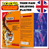 TIGER Hot Pain Relieving Herbal Plaster Patches Muscle Relief, Strains Arthritis