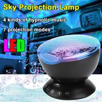 LED Ocean Wave Projection Lamp Sky Projector Romantic Night Light Room Decor USB