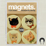 CAT KITTIES MAGNET SET of 4 IN PLASTIC CASE EXCESSIVELY STRONG HELPS CAT RESCUE