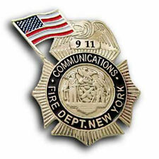 FIRE DEPARTMENT NEW YORK COMMUNICATIONS  9-11 911 REMEMBRANCE PIN