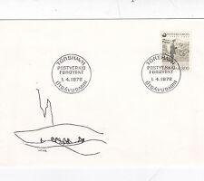Faroe Islands 1976 Postman FDC Unadressed Torshavn CDS VGC