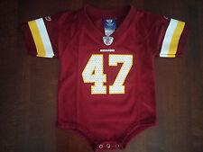 EUC Reebok NFL Washington Redskins Cooley Jersey Romper  Infant Toddler Size 12m