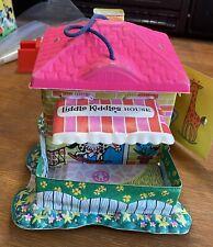 Vintage 1965 Mattel Liddle Kiddles Vinyl Playhouse House Miniature Pink Roof