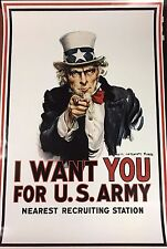 Unknown Artist-I want You Uncle Sam Poster-Military-Art For Sale