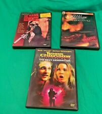 Lot Of 3 Texas Chainsaw Massacre Dvd Movies Horror