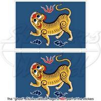 FORMOSA Taiwan (1895) Republik China RoC Flagge, 100mm Vinyl Aufkleber x2
