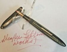 Vintage Sheaffer's White Dot Lifetime Striated  Fountain Pen WORKING