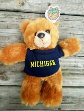 Chelsea Teddy Bear Co. University Of Michigan Football Plush Aproxomitely 8""
