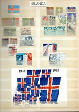 ISLANDA, ICELAND, ISLAND, ISLANDE old and recent used & mint stamps