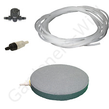 "6"" 15cm AIR STONE KIT 1x DIFFUSER +VALVE +NON RETURN +10m PIPE hydroponic pond"