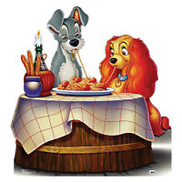 LADY AND THE TRAMP Disney Dogs Spaghetti CARDBOARD CUTOUT Standee Standup Poster