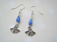 Hook Pear Stone Silver Plated Costume Earrings