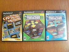 3 Sony Playstation 2 PS2 Games - Midway Arcade Treasures 1, 2, 3.  All Complete.