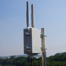 Waterproof Alloy shell outdoor Wireless AP Repeater 2.4G 300Mbps 2*5dBi antennas