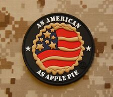 3D PVC As American As Apple Pie OAF Nation Morale Patch 2 Per Cent 2A Hook
