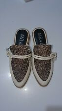 HAEL AND JAX MULES, FLATS, GATWICK, SPECKLE MULTI, SIZE 36, NEW IN BOX rrp $169