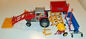 Britains MF 595 Traktor Geräte Konvolut tracteur,trattore,tractor 1:32 wie Siku