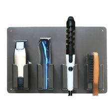 Barber Tool Rack Wall-Mounted Hair Clippers Storage Salon Accessory Holder Stand