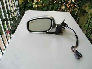 03-EARLY 04 LINCOLN TOWN CAR LEFT SIDE MIRROR LH OEM SILVER AND BLACK  COLOR