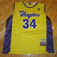 Adult Men XL delf Sports Collection Los Angeles Lakers 34 Enttie Vintage Jersey