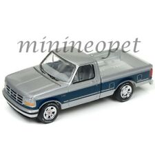 JOHNNY LIGHTNING JLCG009 24A 1993 FORD F-150 PICK UP TRUCK 1/64 SILVER / BLUE
