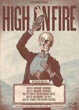 HIGH ON FIRE 2014 Australian Tour Poster A2 SLEEP De Vermis Mysteriis Stoner NEW