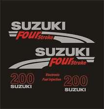 Adesivi motore marino fuoribordo Suzuki 200 hp four stroke