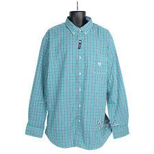 NWT CHAPS by Ralph Lauren Easy Care Classic Plaid Long Sleeve Men Shirt 2XL $55