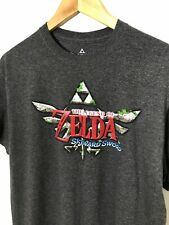 The Legend of  Zelda Skyward Sword Charcoal Short Sleeve T-Shirt Size Large