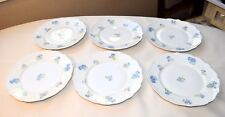 "SIX (6) C. AHRENFELDT LIMOGES FRANCE DEPOSE BLUE BACHELOR BUTTON 7 1/2"" PLATES"