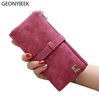Fashion Luxury Brand Women Wallets Matte Leather Wallet Female Coin Purse Wallet