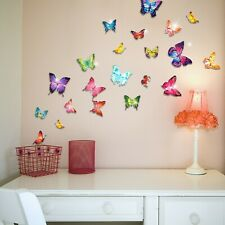 Walplus Wall Sticker Decal Colourful Butterflies with Swarovski Crystals