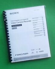 Sony NEX FS700U Video Camera 127 Page LASER PRINTED Owners Manual Guide