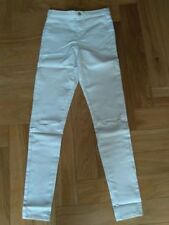 Primark White Ladies Ripped Knee Cut High Waist Skinny Jeggings