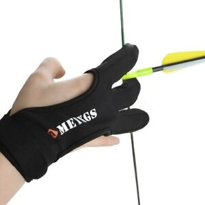 Archery Gloves 3 Finger Hand Guard Archery Bow Arrows Shooting Protective Gear
