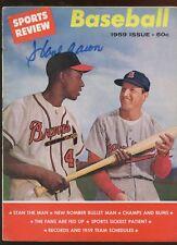 1959 Sports Review Baseball Magazine Hank Aaron Autographed Hologram