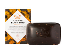 Nubian Heritage African Black Soap With Oats, Aloe & Vitamin E 5 oz. Pack of 6